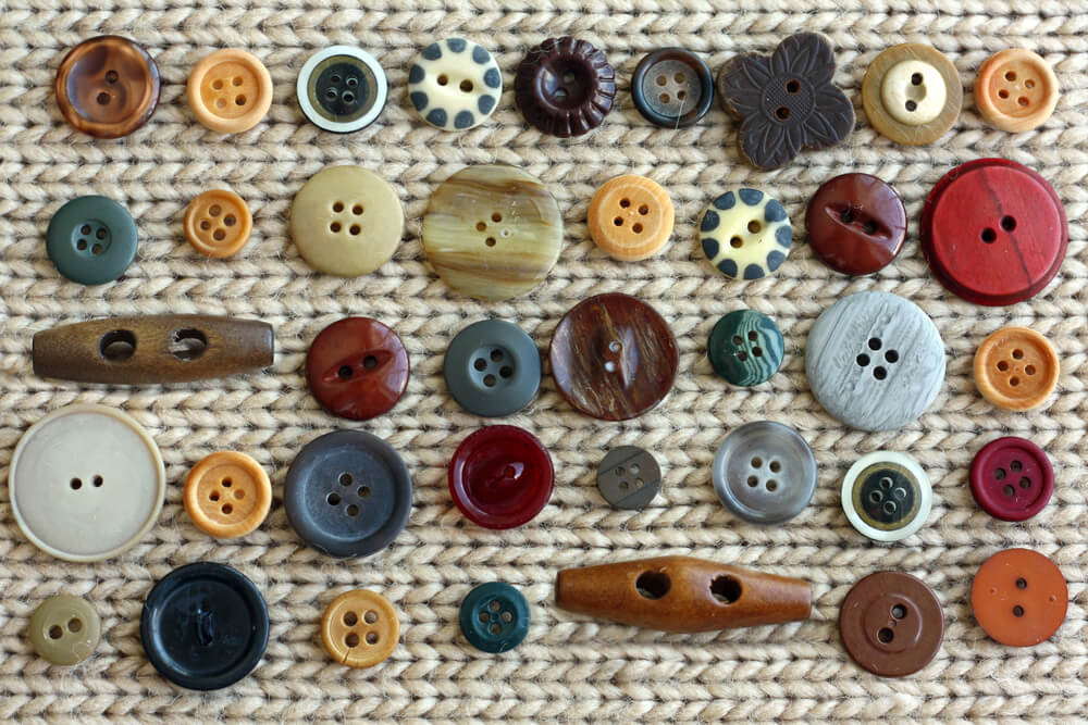 arranged buttons in rows - Montessori activities for kids