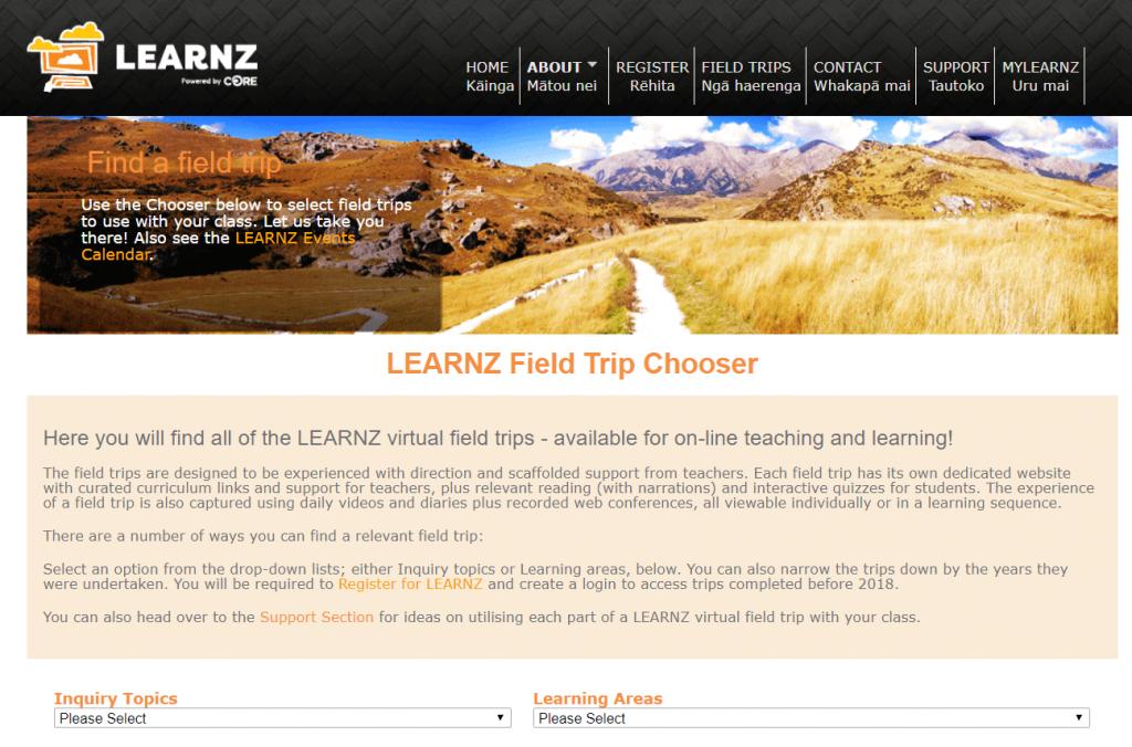 Virtual Field Trips - LEARNZ website
