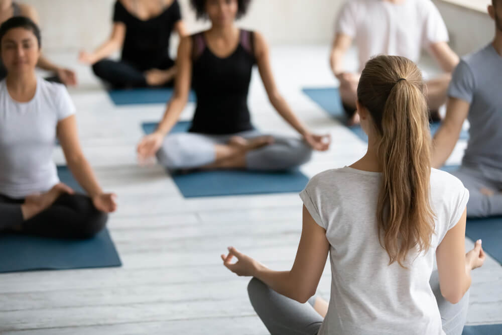 stress management for teachers - young people meditating