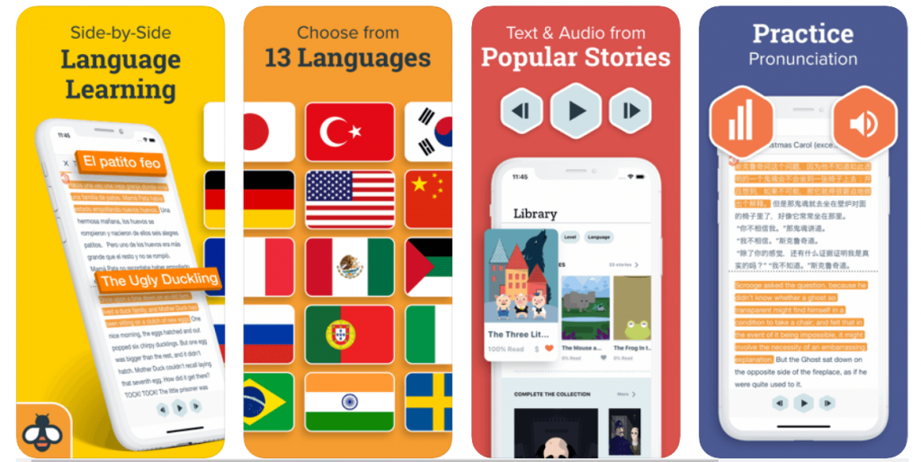 Beellingual - apps for learning english