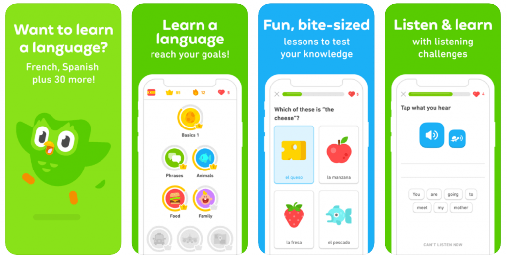 Duolingo - apps for learning English
