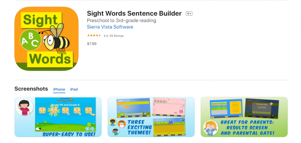 best-sight-word-apps-sentence-builder