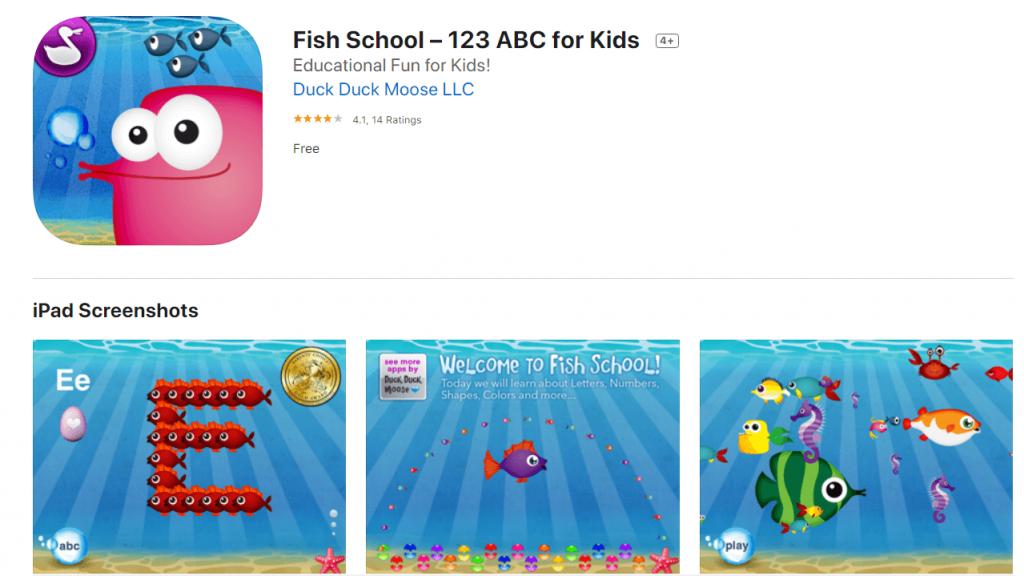 fish school - top free preschool apps