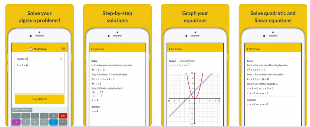 mathpapa app iOS and android