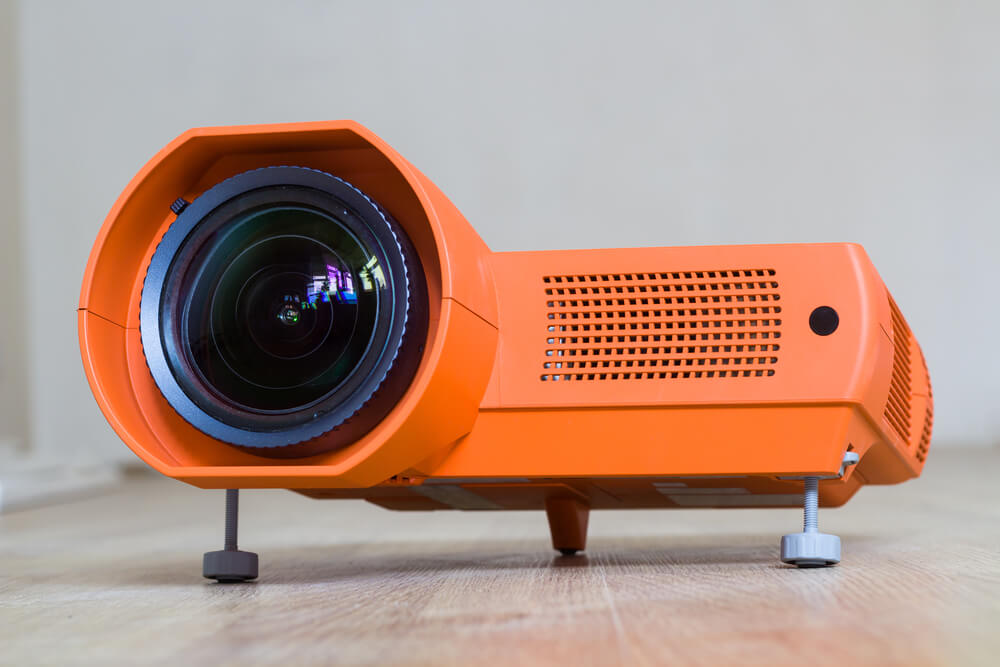 orange video projector