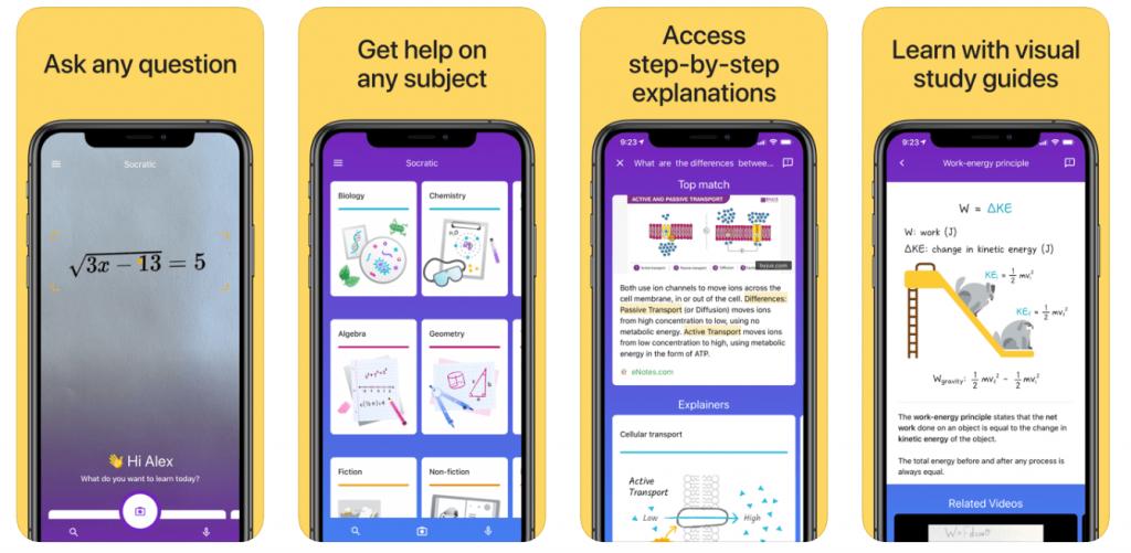 socratic - best algebra apps