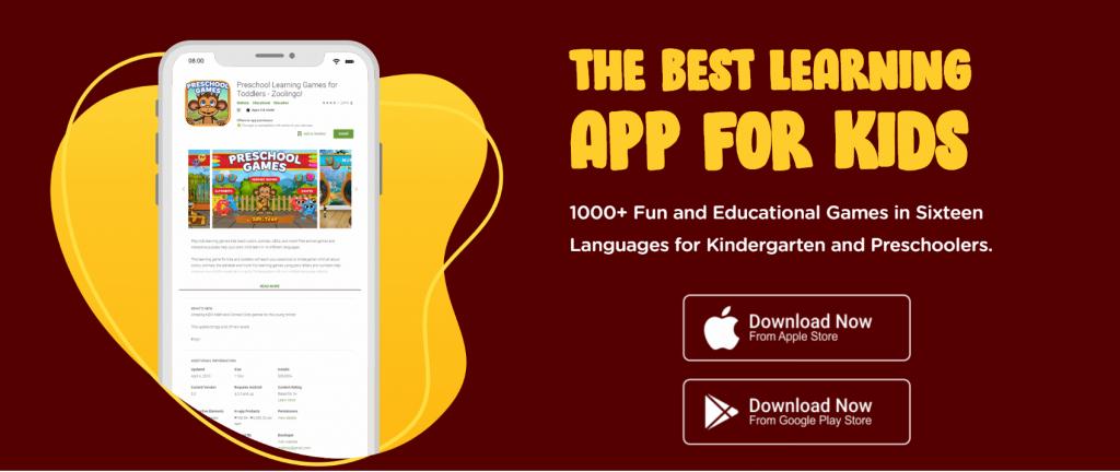 zoolingo - top free preschool apps