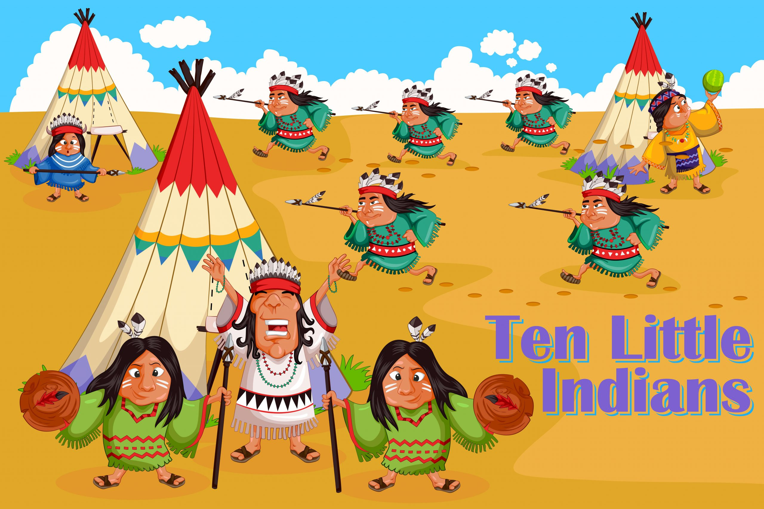 Ten Little Indians - rhymes apps