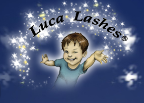 Luca Lashes homepage logo