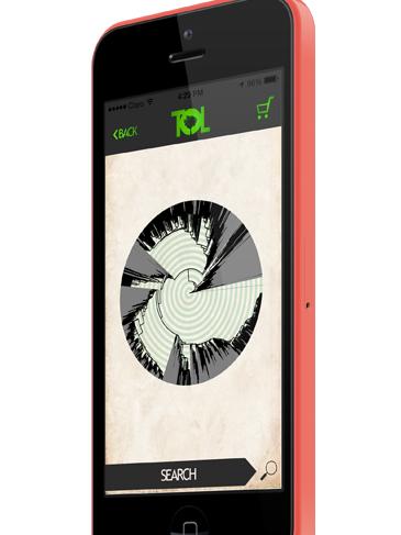 tree of life app logo image on phone