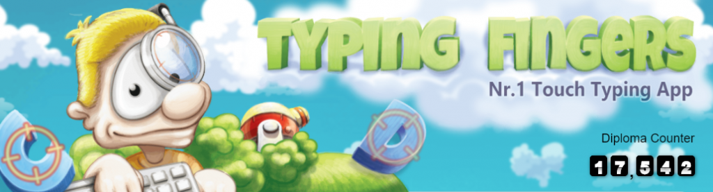 Typing fingers display image