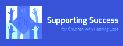 Official logo supporting success for kids with hearing loss