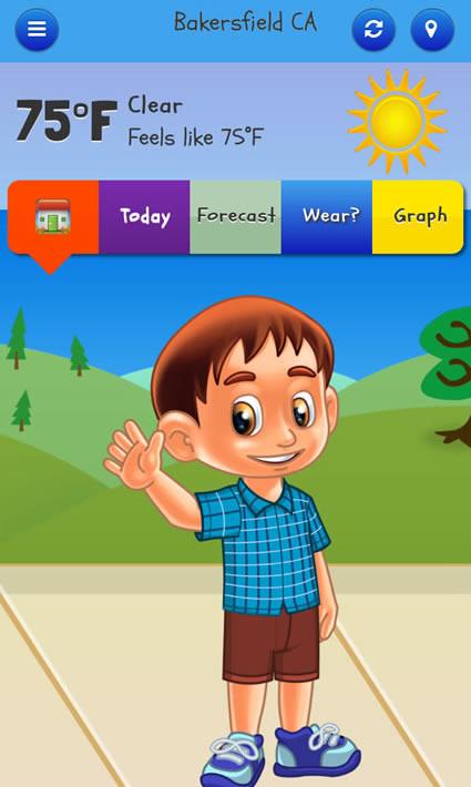 kid weather app