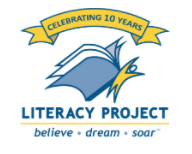 Literacy Project logo at ADS